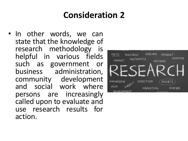 significance of research methodology