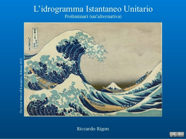 Riccardo Rigon L'idrogramma Istantaneo Unitario Preliminari (un'alternativa) TheGreatWaveoffKanagawa,Hokusai1823