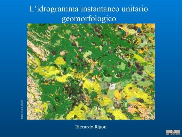 L'idrogramma instantaneo unitario geomorfologico Riccardo Rigon ShozoShimamoto