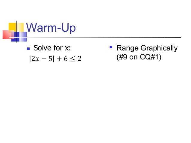 Warm-Up  Range Graphically (#9 on CQ#1)