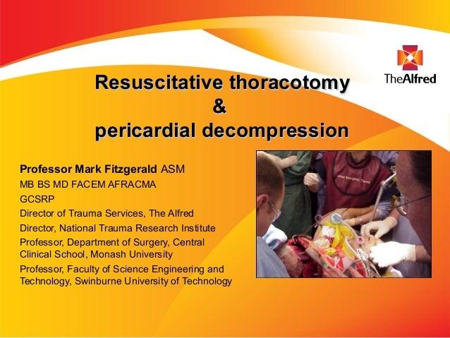 Resuscitative Thoracotomy - Mark Fitzgerald