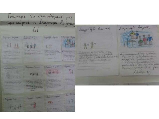 5. Κάθε παιδί, γράφει έναν ή περισσότερους χαρακτηρισμούς (μόνο θετικούς) στην καρτέλα κάθε συμμαθητή του, η οποία παραμέ...