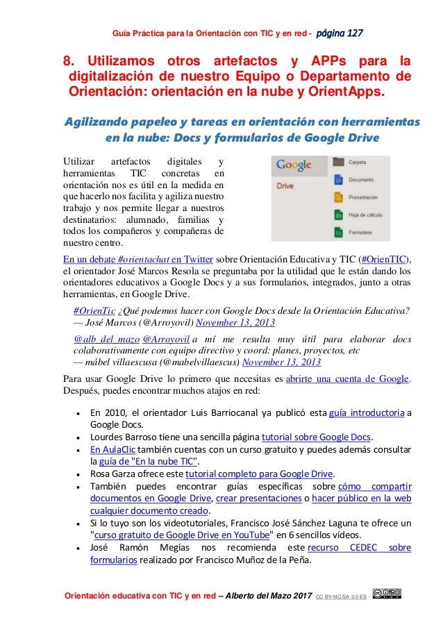 Guía Práctica para la Orientación con TIC y en red - página 127 Orientación educativa con TIC y en red – Alberto del Mazo ...