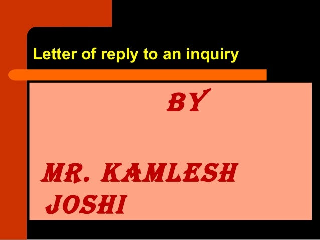 8 letter of reply to an inquiry letter of reply to an inquiry by mr thecheapjerseys Image collections