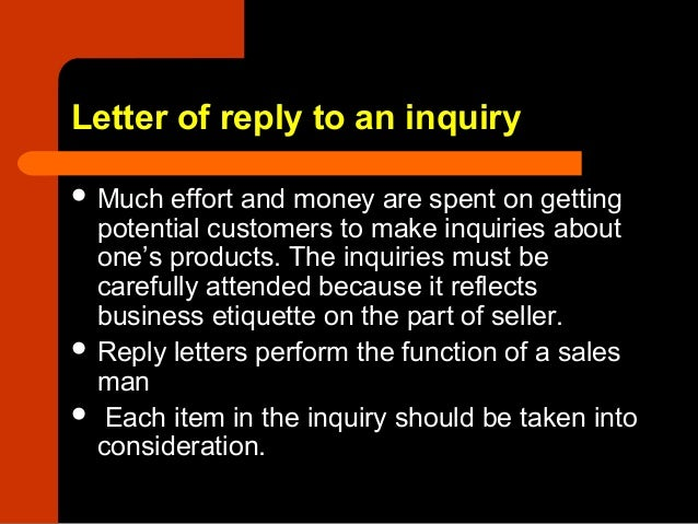 8 letter of reply to an inquiry letter thecheapjerseys Image collections