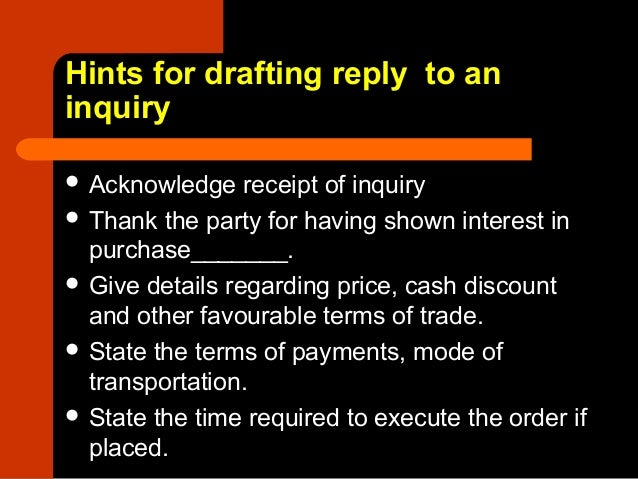8 letter of reply to an inquiry 3 hints for drafting reply to an inquiry thecheapjerseys Image collections