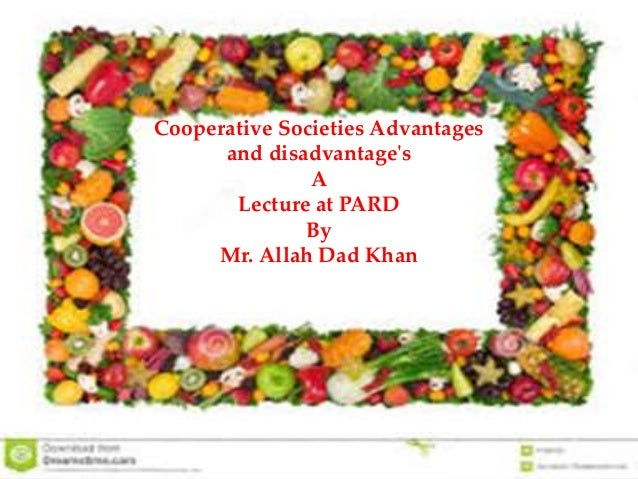 8  Cooperative societies advantages and disadvantage's A