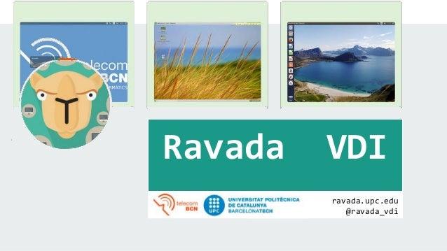 ravada.upc.edu @ravada_vdi Ravada VDI