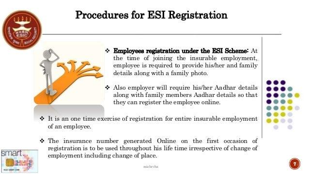 esic employee details edit online