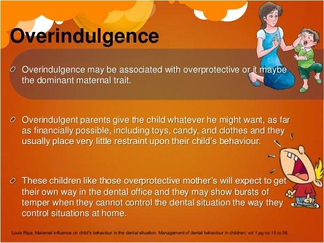 Maternal influence on child's behaviour