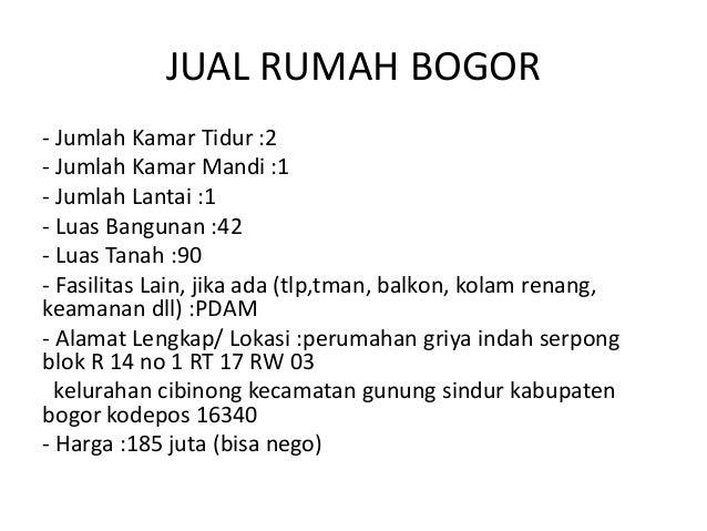 Rumah Dijual Di Bogor Dibawah 100 Juta - Content