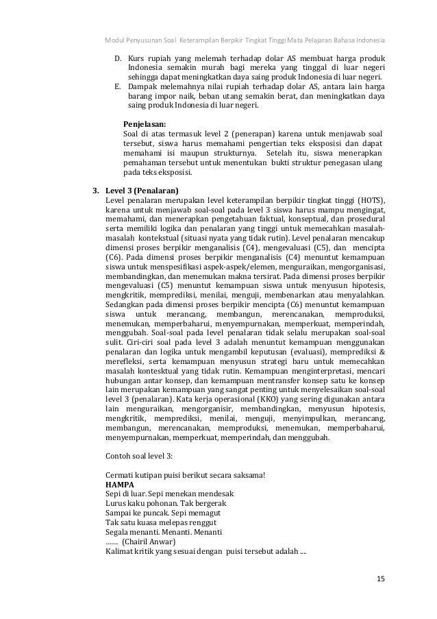 Contoh Soal Essay Bahasa Indonesia Kelas 10 Teks Anekdot ...