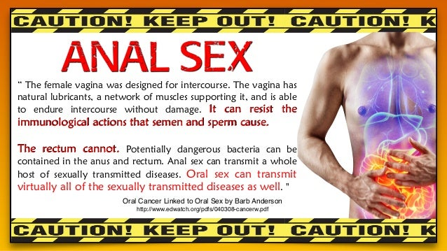 why anal sex is dangerous