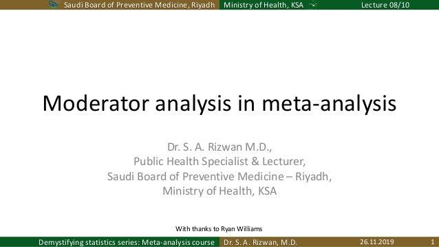 Saudi Board of Preventive Medicine, Riyadh Ministry of Health, KSA Lecture 08/10 Dr. S. A. Rizwan, M.D.Demystifying statis...