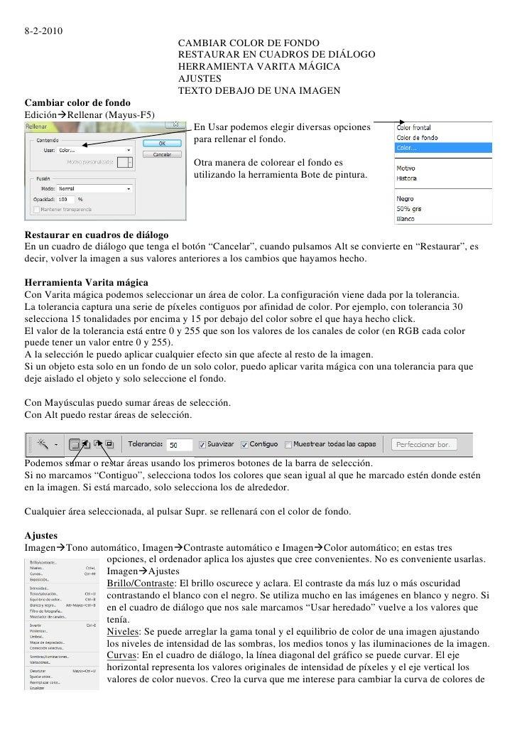 8-2-2010                                      CAMBIAR COLOR DE FONDO                                      RESTAURAR EN CUA...
