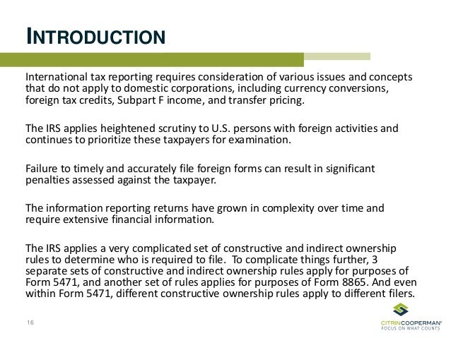 International Information Reporting
