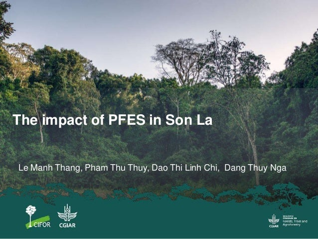 The impact of PFES in Son La Le Manh Thang, Pham Thu Thuy, Dao Thi Linh Chi, Dang Thuy Nga
