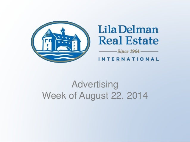 Advertising Week of August 22, 2014