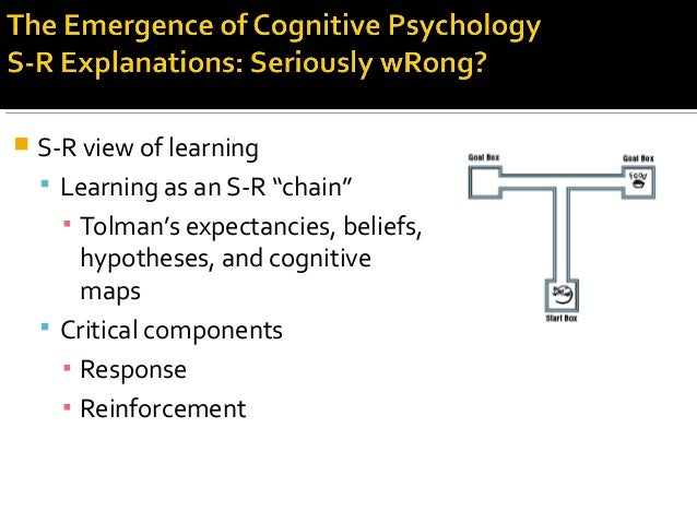 """ S-R view of learning  Learning as an S-R """"chain"""" ▪ Tolman's expectancies, beliefs, hypotheses, and cognitive maps  Cri..."""