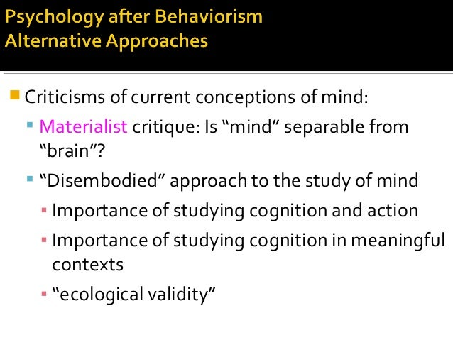""" Criticisms of current conceptions of mind:  Materialist critique: Is """"mind"""" separable from """"brain""""?  """"Disembodied"""" app..."""