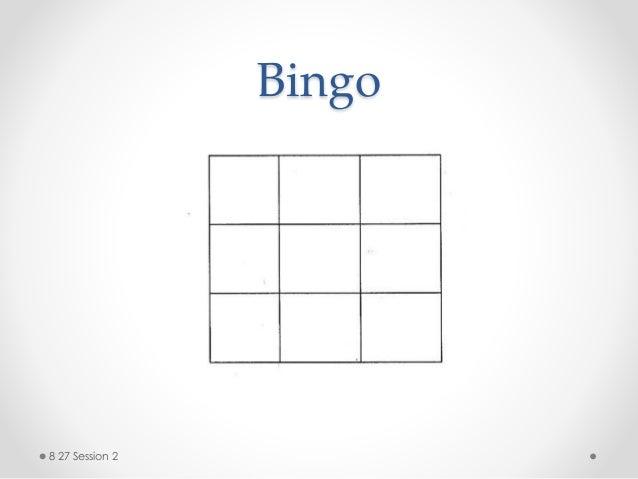 Bingo 8 27 Session 2