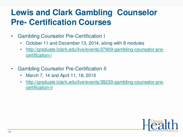 Oregon gambling training newport what is a casino star called
