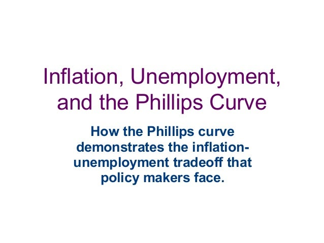 Inflation, Unemployment, and the Phillips Curve How the Phillips curve demonstrates the inflation- unemployment tradeoff t...