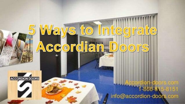 5 Ways To Integrate Accordion Doors