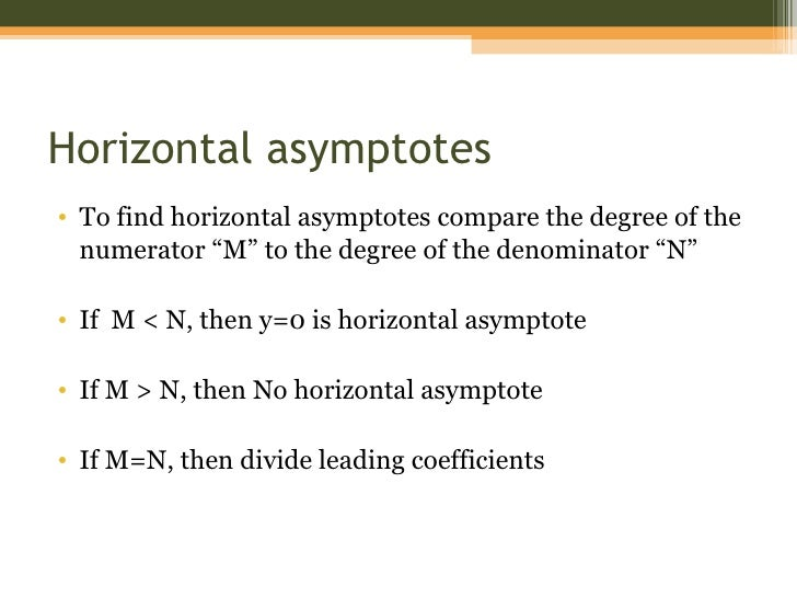 rules of side to side asymptotes