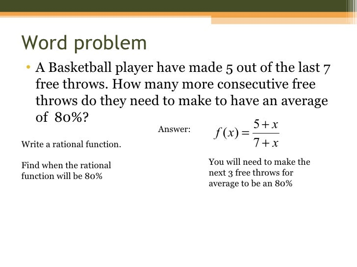 8 - 3 Graphing Rational Functions