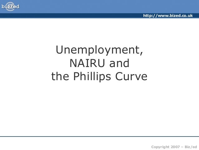http://www.bized.co.uk Copyright 2007 – Biz/ed Unemployment, NAIRU and the Phillips Curve