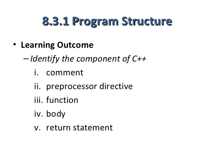 8 3 program structure 1 hour