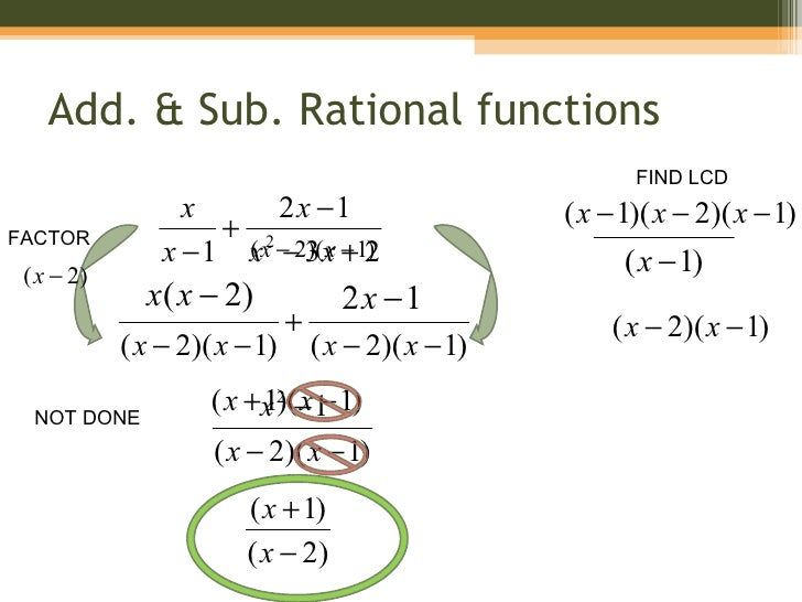 8-5 Adding and Subtracting Rational Expressions