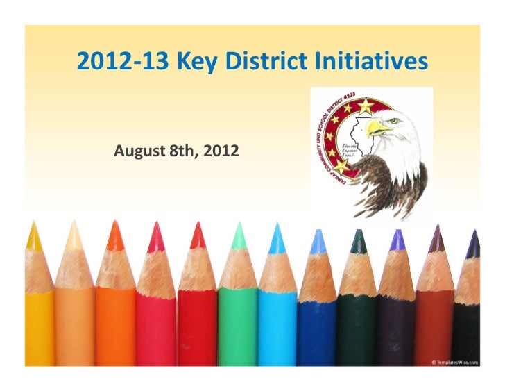 2012‐13 Key District Initiatives   August 8th, 2012