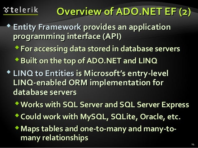 the ado net entity framework This is the vbnet version of the adonet entity framework tutorial (c# version on codegurucom) an introduction to the adonet entity framework database.