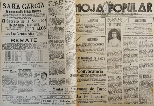 ;L  ÍÊÃ GARCIA  la ¡ncumparahle Artista Mexican:   nuaínterpretn ahora ln más üerna.  rnmánücu_ y Películas-Usted reirá mn...