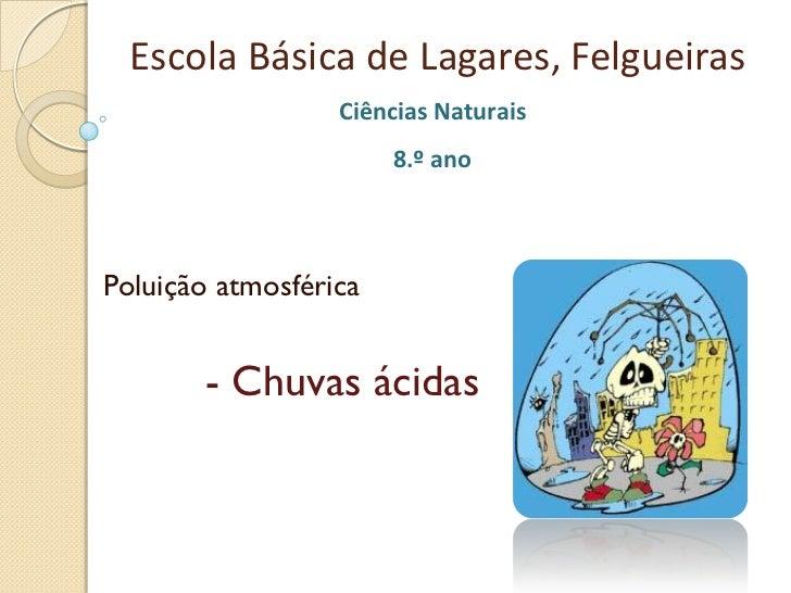 Escola Básica de Lagares, Felgueiras                  Ciências Naturais                       8.º anoPoluição atmosférica ...