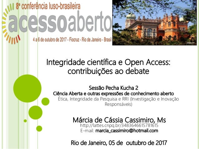 Márcia de Cássia Cassimiro, Ms http://lattes.cnpq.br/3483646615781615 E-mail: marcia_cassimiro@hotmail.com Rio de Janeiro,...