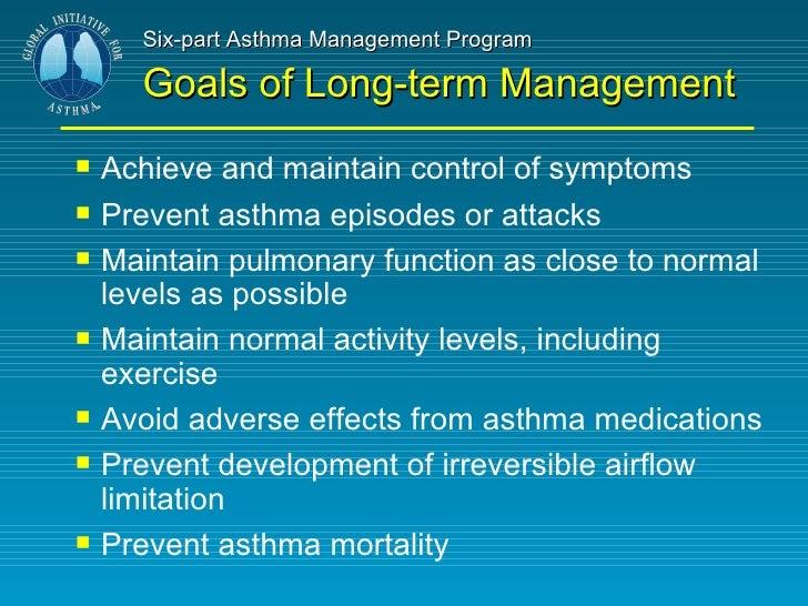 Asthma Goals - Asthma Lung Disease