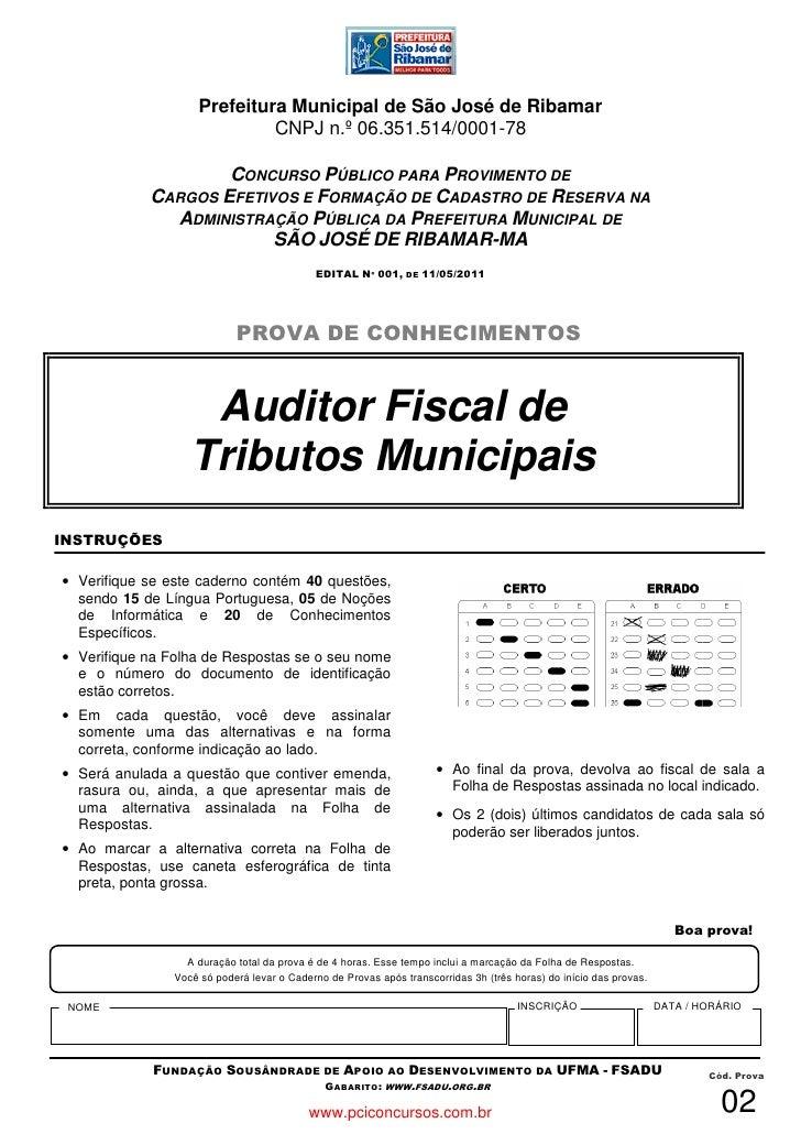 Prefeitura Municipal de São José de Ribamar                              CNPJ n.º 06.351.514/0001-78                    CO...