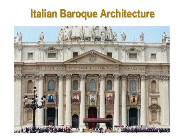 33 Italian Baroque Architecture