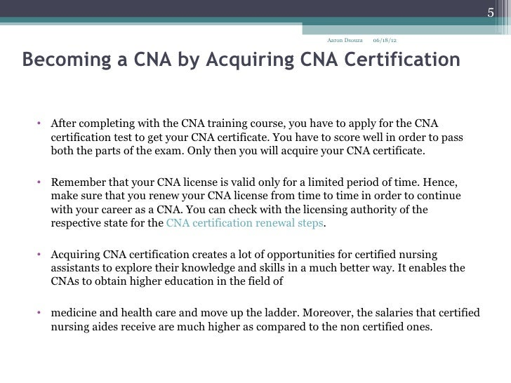 8 Becoming A Cna By Acquiring Cna Certification
