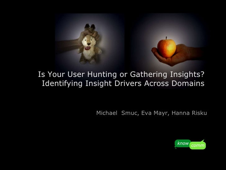 Is Your User Hunting or Gathering Insights?  Identifying Insight Drivers Across Domains   Michael  Smuc, Eva Mayr, Hanna R...