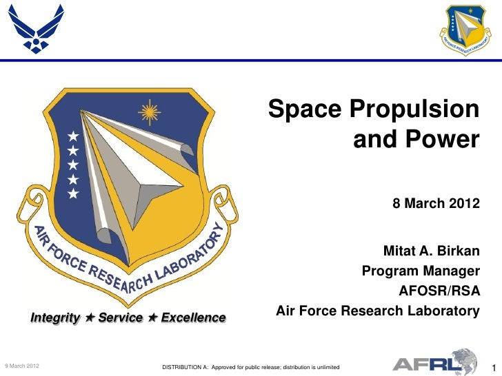 Space Propulsion                                                                            and Power                     ...