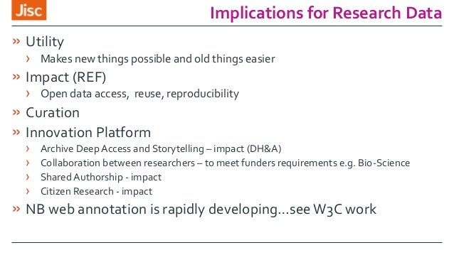 Implications for Research Data » Utility › Makes new things possible and old things easier » Impact (REF) › Open data acce...