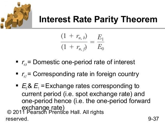 Interest rate parity essay