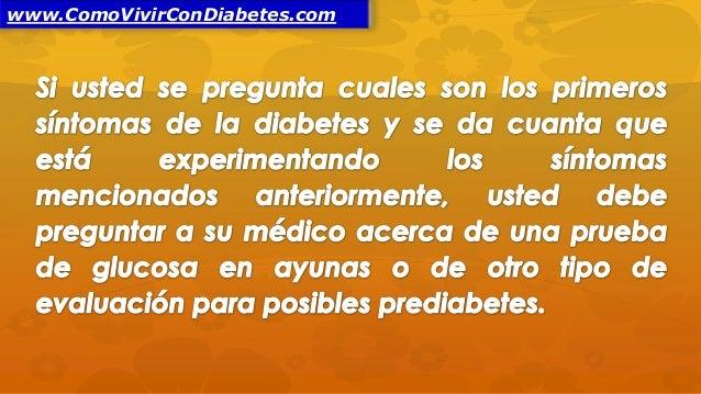 Cuales Son los Primeros Síntomas de la Diabetes