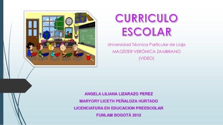 Universidad Técnica Particular de Lioja               MAGÍSTER VERÓNICA ZAMBRANO                            (VIDEO)    ANG...