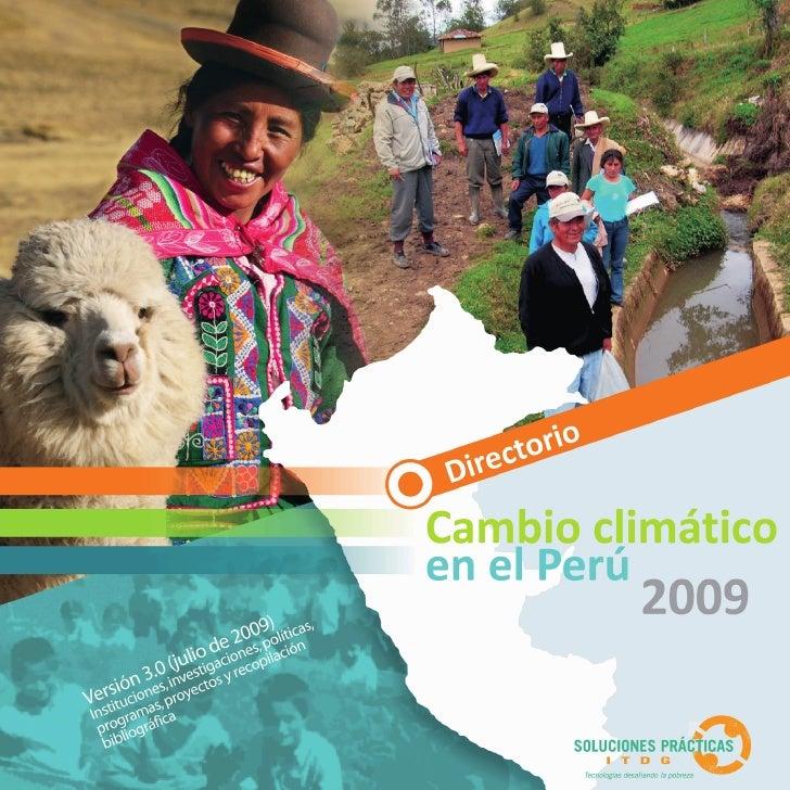 Directorio Nacional y Regional de Cambio Climático