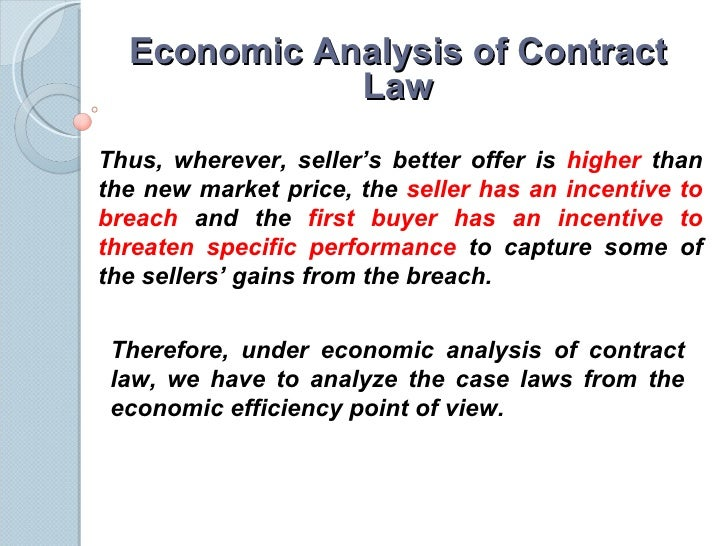 economic analysis of law Posner, economics and the law: from law and economics to an economic analysis of law - volume 31 issue 2 - sophie harnay, alain marciano.